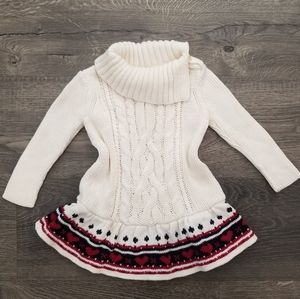 Baby Gap Cable Knit Chunky Sweater Dress 6-12 mo